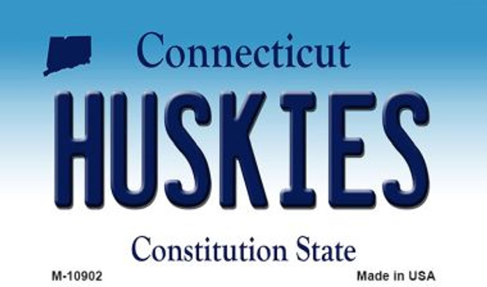 Huskies Connecticut State License Plate Wholesale Magnet M-10902
