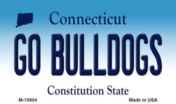 Go Bulldogs Connecticut State License Plate Wholesale Magnet M-10904