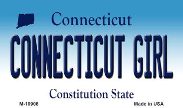 Connecticut Girl State License Plate Wholesale Magnet M-10908