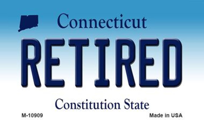 Retired Connecticut State License Plate Wholesale Magnet M-10909