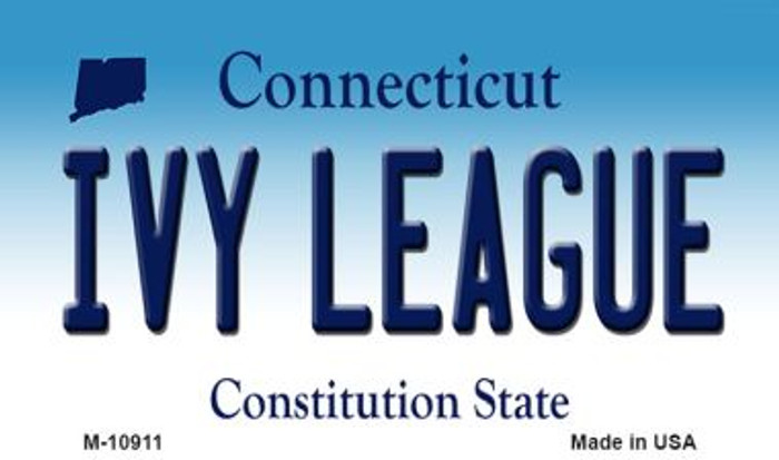 Ivy League Connecticut State License Plate Wholesale Magnet M-10911