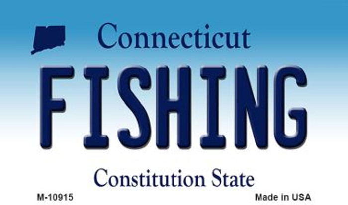 Fishing Connecticut State License Plate Wholesale Magnet M-10915