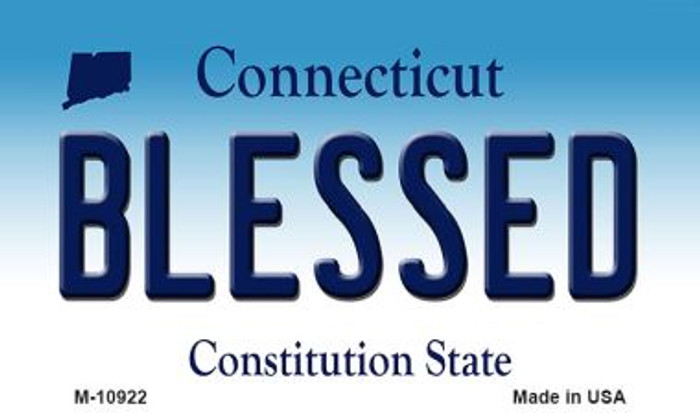 Blessed Connecticut State License Plate Wholesale Magnet M-10922