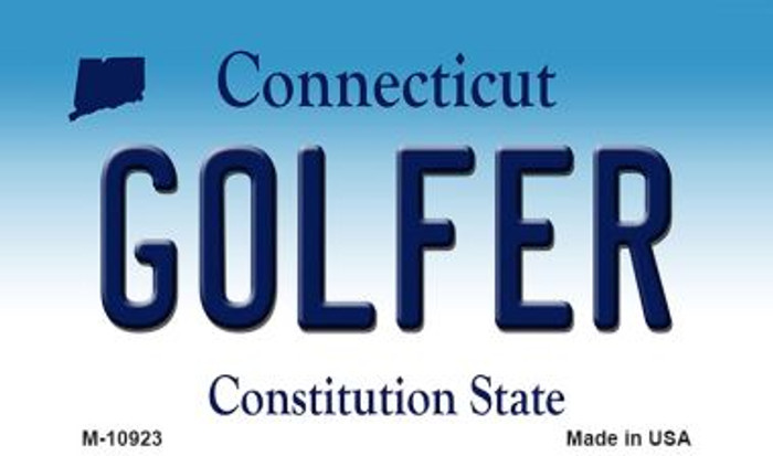 Golfer Connecticut State License Plate Wholesale Magnet M-10923