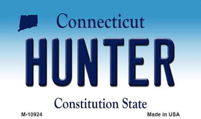 Hunter Connecticut State License Plate Wholesale Magnet M-10924