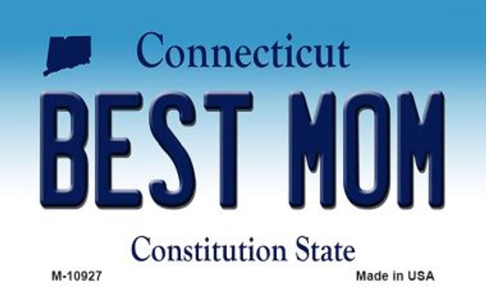 Best Mom Connecticut State License Plate Wholesale Magnet M-10927