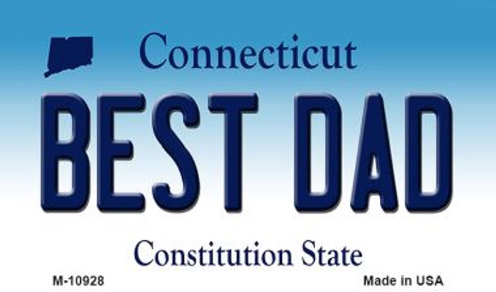 Best Dad Connecticut State License Plate Wholesale Magnet M-10928
