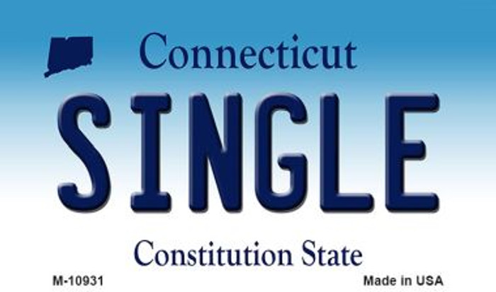 Single Connecticut State License Plate Wholesale Magnet M-10931
