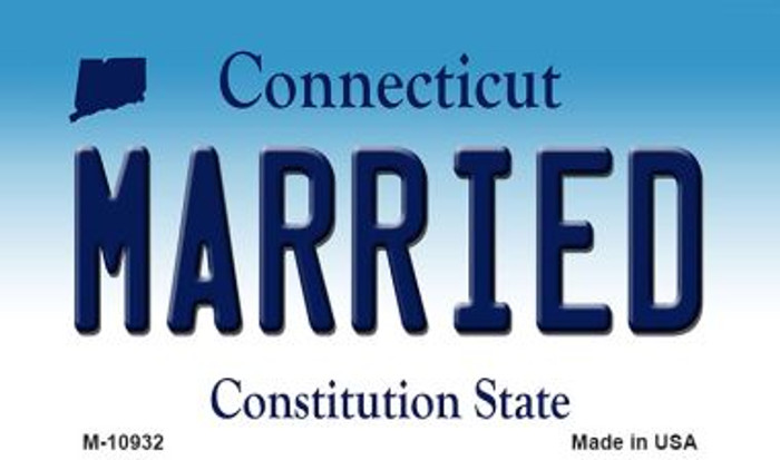 Married Connecticut State License Plate Wholesale Magnet M-10932