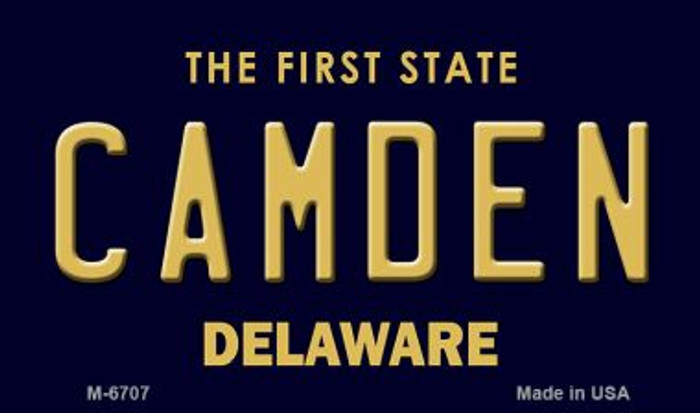 Camden Delaware State License Plate Wholesale Magnet M-6707