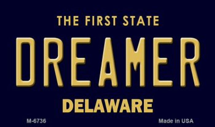 Dreamer Delaware State License Plate Wholesale Magnet M-6736