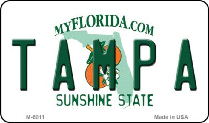Tampa Florida State License Plate Wholesale Magnet M-6011