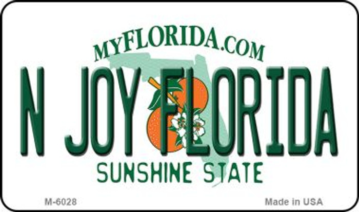N Joy Florida State License Plate Wholesale Magnet M-6028