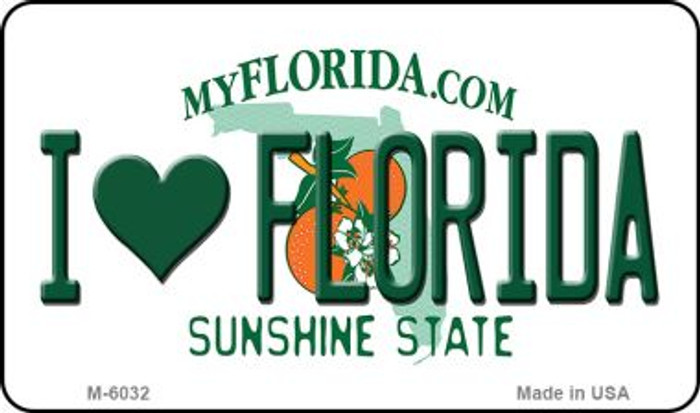I Love Florida State License Plate Wholesale Magnet M-6032