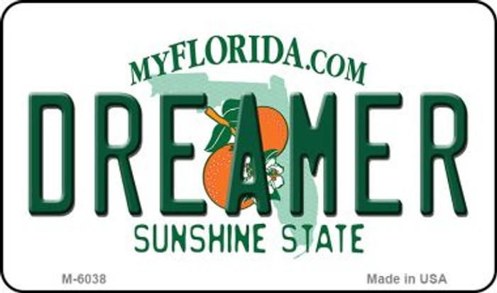 Dreamer Florida State License Plate Wholesale Magnet M-6038