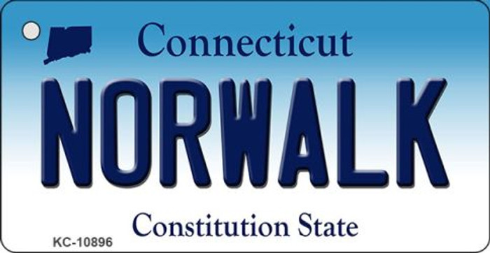 Norwalk Connecticut State License Plate Wholesale Key Chain KC-10896