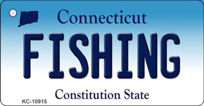 Fishing Connecticut State License Plate Wholesale Key Chain KC-10915