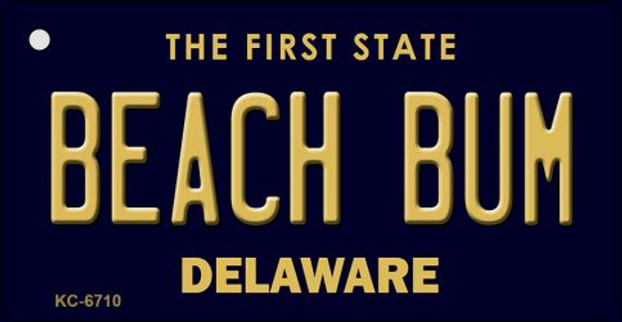 Beach Bum Delaware State License Plate Wholesale Key Chain KC-6710