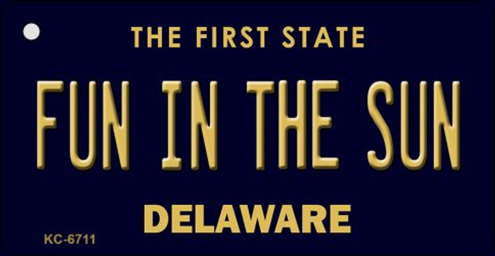 Fun in the Sun Delaware State License Plate Wholesale Key Chain KC-6711