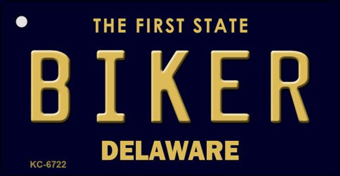 Biker Delaware State License Plate Wholesale Key Chain KC-6722
