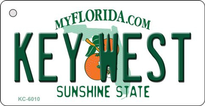 Key West Florida State License Plate Wholesale Key Chain KC-6010