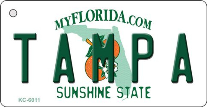 Tampa Florida State License Plate Wholesale Key Chain KC-6011