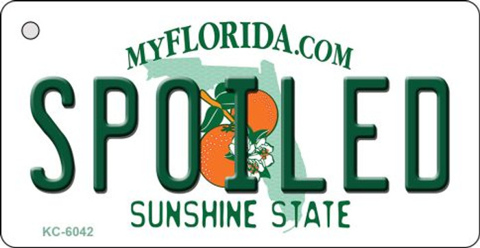 Spoiled Florida State License Plate Wholesale Key Chain KC-6042