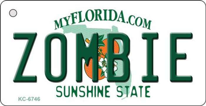 Zombie Florida State License Plate Wholesale Key Chain KC-6746