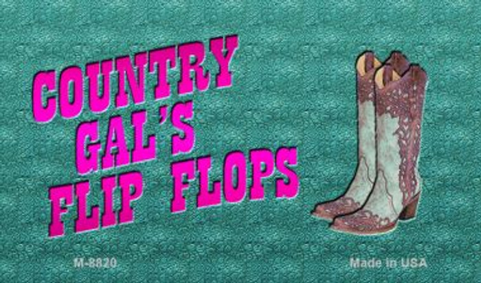 Country Gal's Flip Flops Novelty Wholesale Magnet M-8820