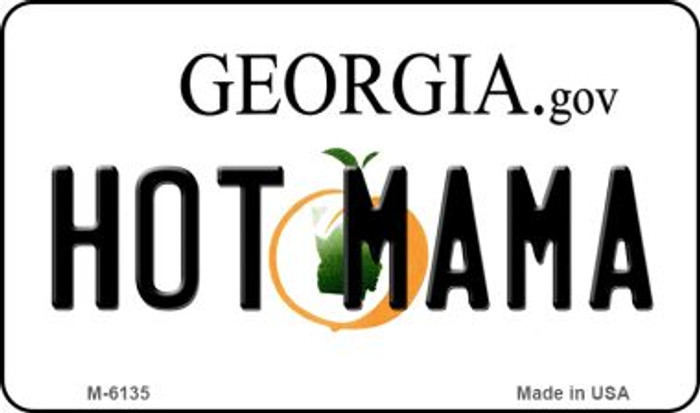 Hot Mama Georgia State License Plate Novelty Wholesale Magnet M-6135