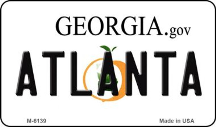 Atlanta Georgia State License Plate Novelty Wholesale Magnet M-6139