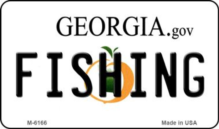 Fishing Georgia State License Plate Novelty Wholesale Magnet M-6166