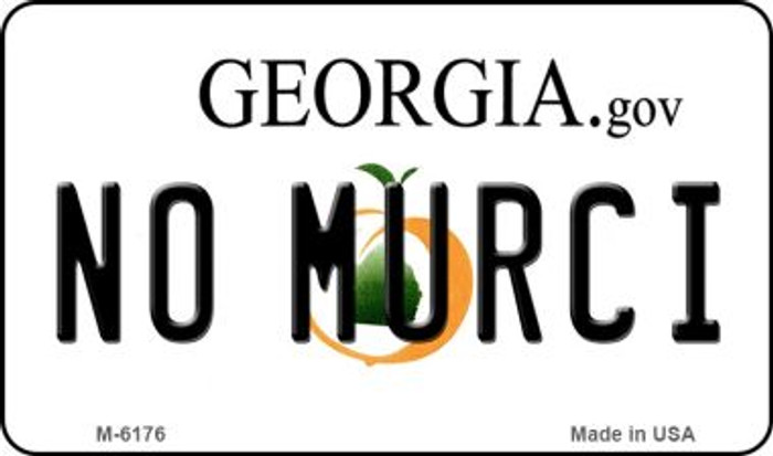 No Murci Georgia State License Plate Novelty Wholesale Magnet M-6176