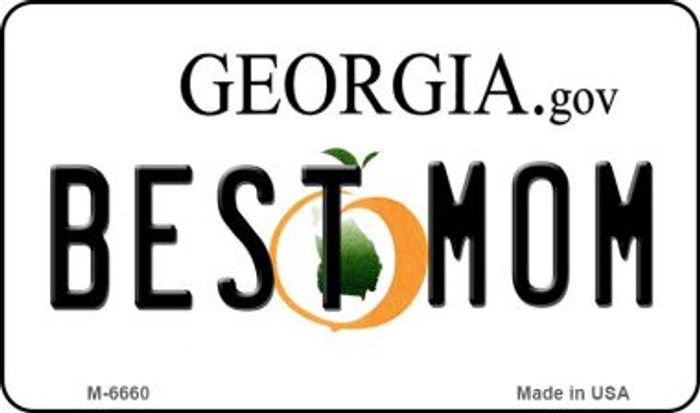 Best Mom Georgia State License Plate Novelty Wholesale Magnet M-6660