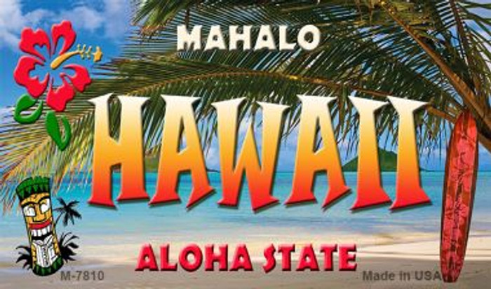 Hawaii Tiki Novelty Wholesale Metal Magnet M-7810