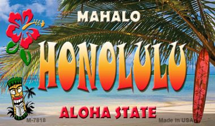 Honolulu Tiki Novelty Wholesale Metal Magnet M-7818