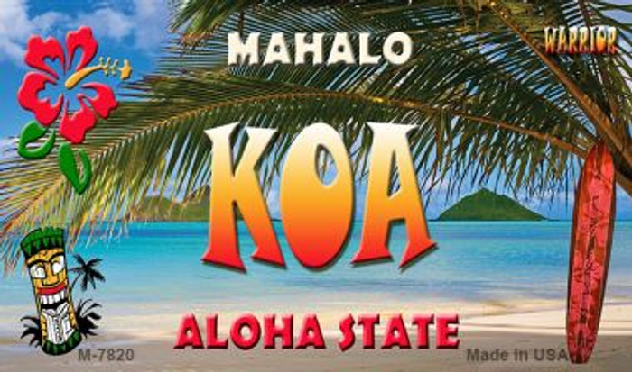 Koa Tiki Novelty Wholesale Metal Magnet M-7820