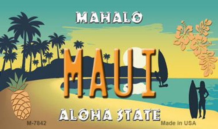Maui Pineapple Novelty Wholesale Metal Magnet M-7842