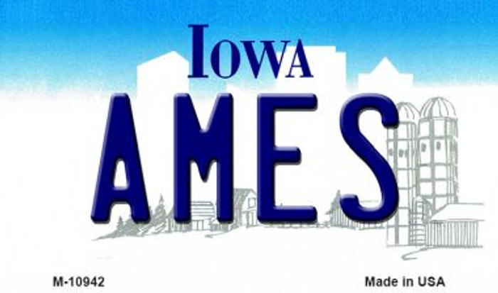 Ames Iowa State License Plate Novelty Wholesale Magnet M-10942