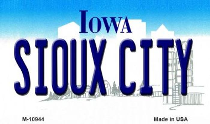Sioux City Iowa State License Plate Novelty Wholesale Magnet M-10944