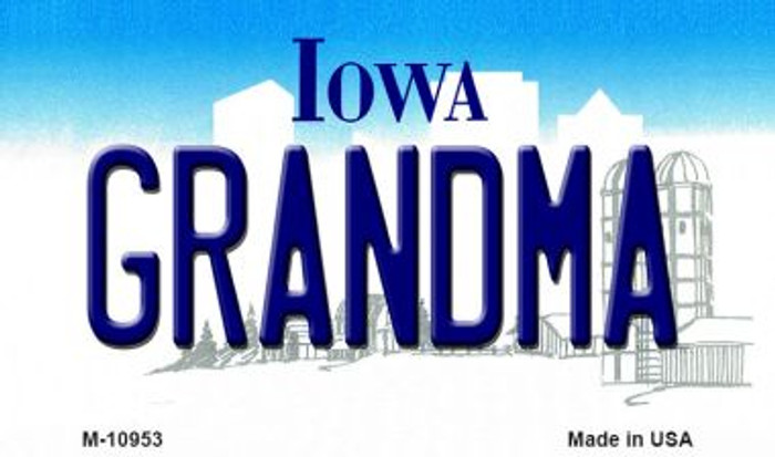 Grandma Iowa State License Plate Novelty Wholesale Magnet M-10953