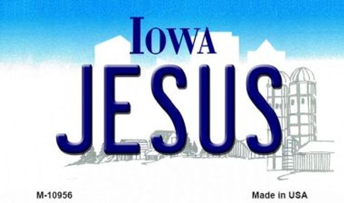 Jesus Iowa State License Plate Novelty Wholesale Magnet M-10956