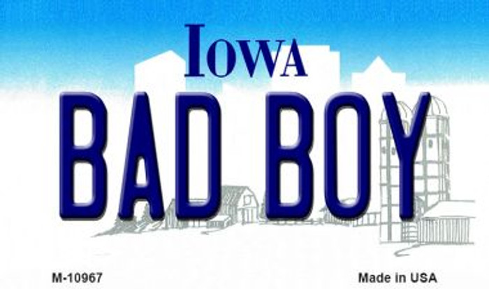 Bad Boy Iowa State License Plate Novelty Wholesale Magnet M-10967