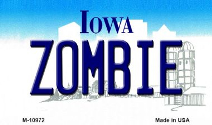Zombie Iowa State License Plate Novelty Wholesale Magnet M-10972