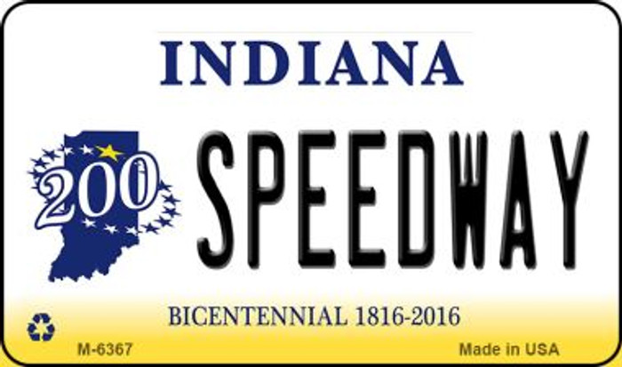 Speedway Indiana State License Plate Novelty Wholesale Magnet M-6367