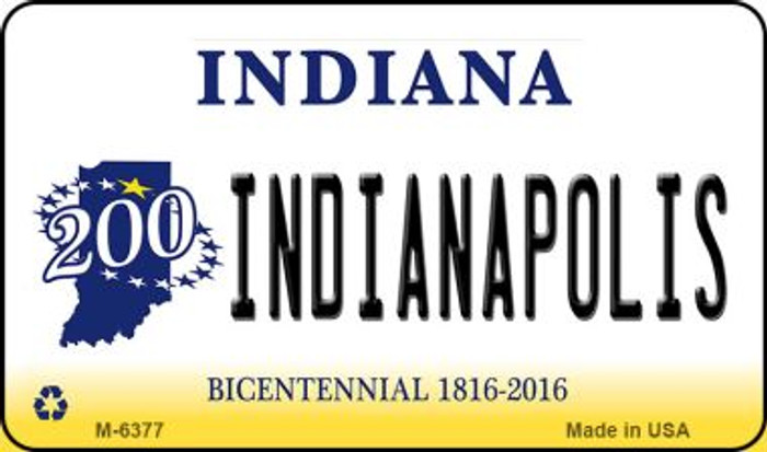 Indianapolis Indiana State License Plate Novelty Wholesale Magnet M-6377