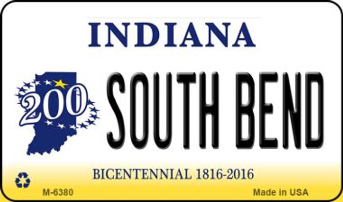 South Bend Indiana State License Plate Novelty Wholesale Magnet M-6380