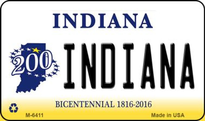 Indiana State License Plate Novelty Wholesale Magnet M-6411
