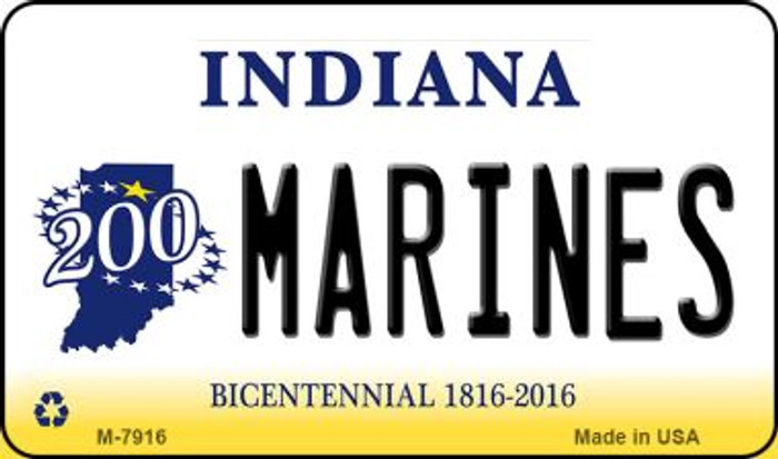 Marines Indiana State License Plate Novelty Wholesale Magnet M-7916
