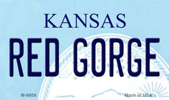 Red Gorge Kansas State License Plate Novelty Wholesale Magnet M-6609